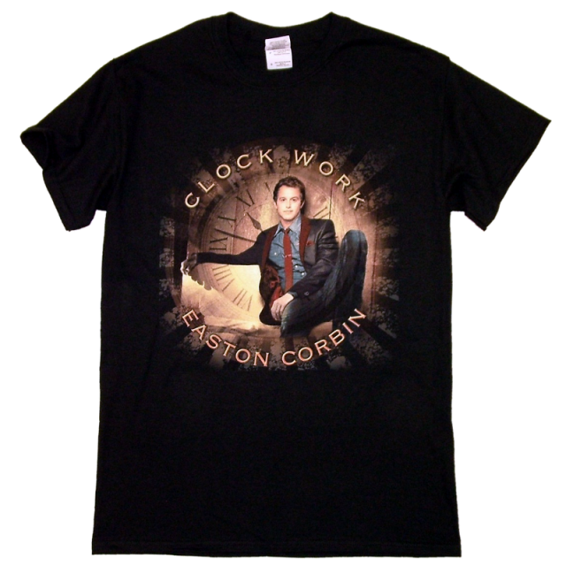 "Easton Corbin Black ""Clockwork"" tee"