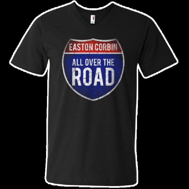 Easton Corbin All Over The Road Black V-Neck