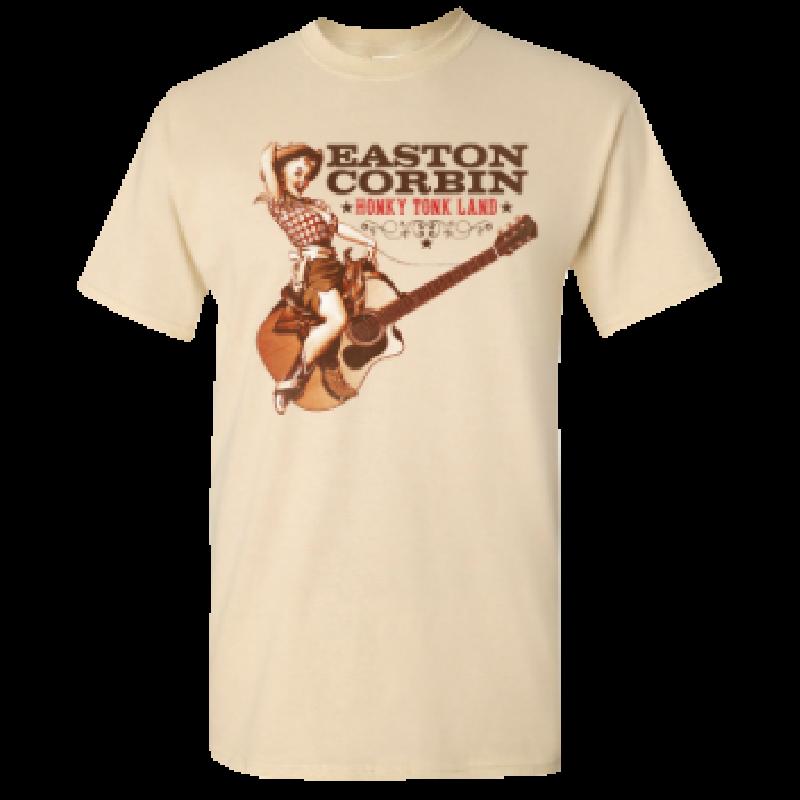 Easton Corbin Natural Tee- Honky Tonk Land