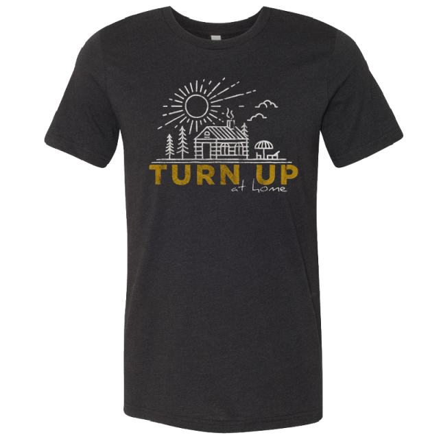 Easton Corbin Black Heather Turn Up Tee- PRESALE