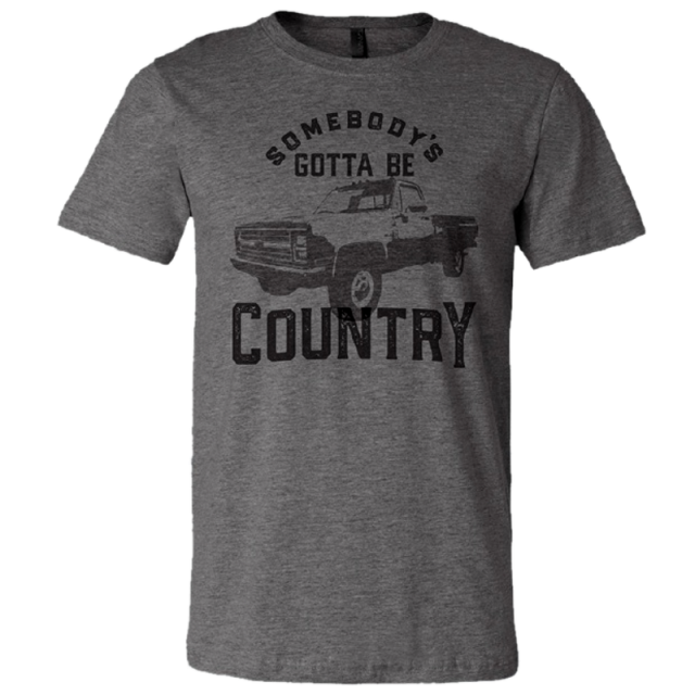 Easton Corbin Deep Heather Tee- Somebody's Gotta Be Country