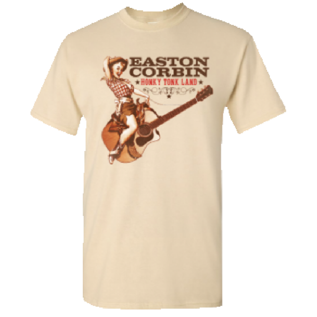 Easton Corbin Natural Tee- Honky Tonk Land