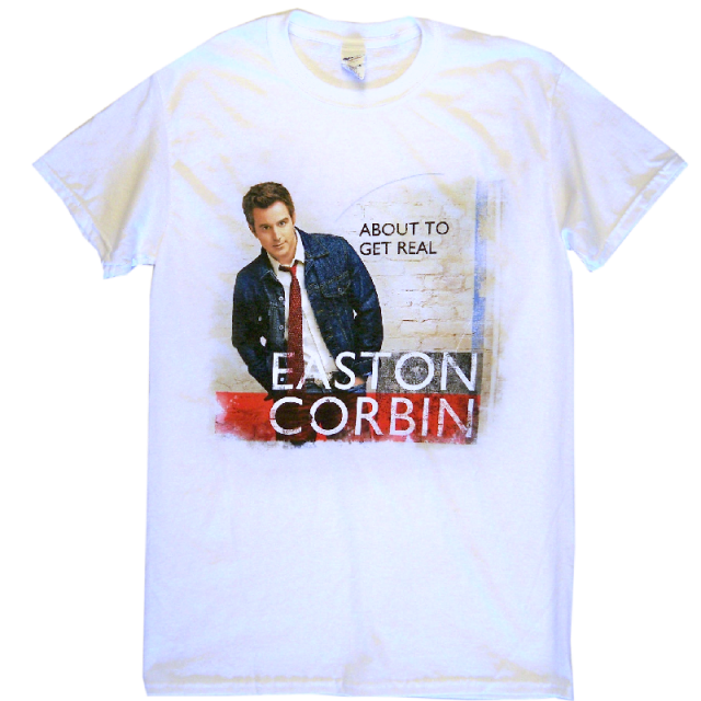 Easton Corbin About To Get Real White Album Tee